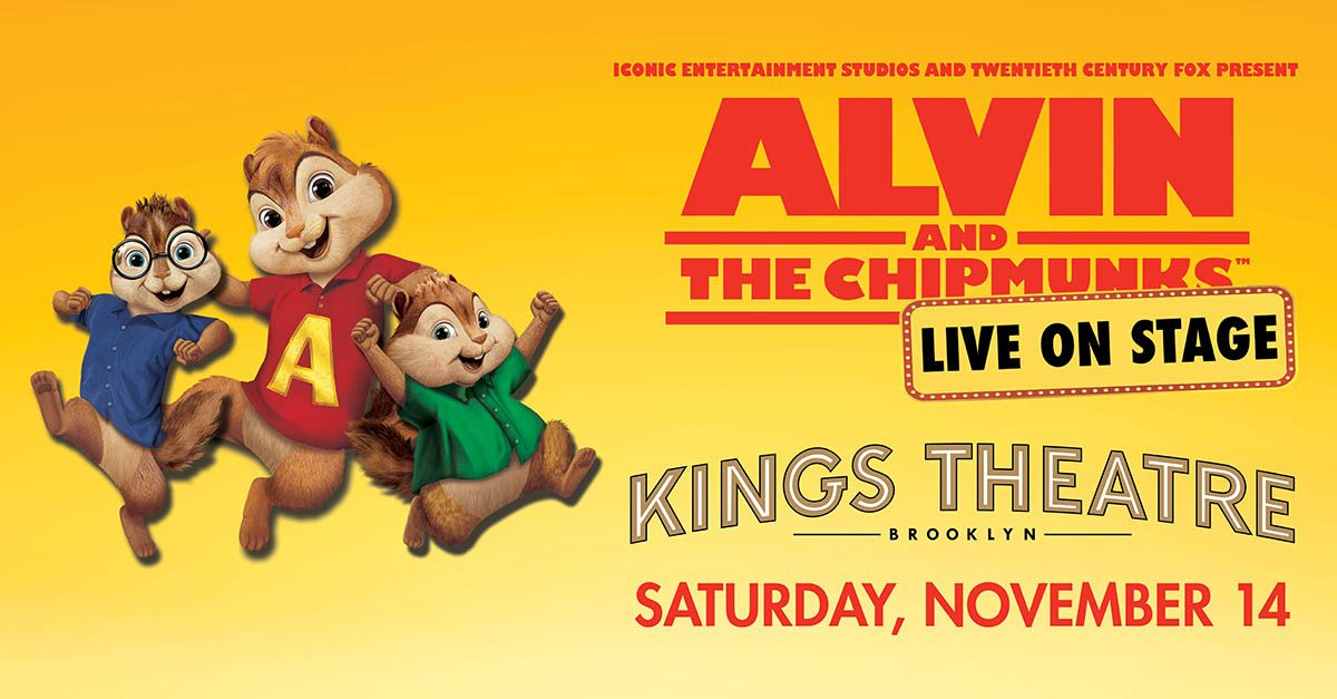 Alvin & The Chipmunks Are Coming To Kings Theatre This Fall