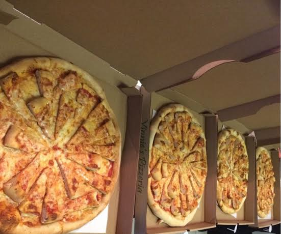Vinnie's Pizzeria's Pizza Topped Pizza Becomes A Viral Sensation