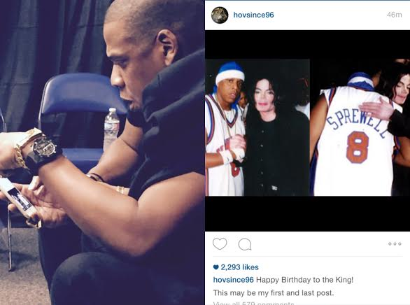 Jay Z Tribute's Michael Jackson On His Instagram For A Day