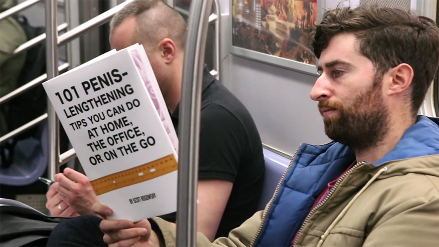 One Comedian Is Spoofing Brooklynites On The L Train With Fake Book Covers