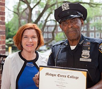 87-Year-Old Brooklyn Campus Safety Officer Graduates From Medgar Evers College