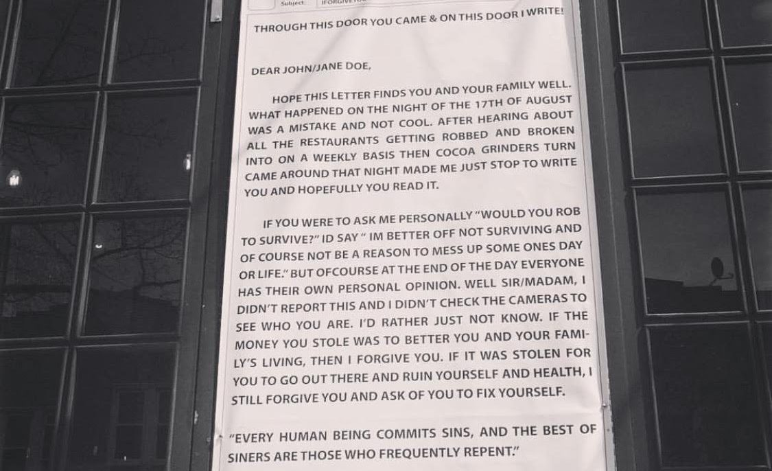 Bay Ridge Coffee Shop Owner Post Forgiveness Letter To Person Who Robbed Him