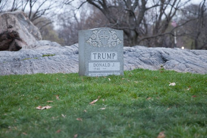Donald Trump's Unofficial Tombstone Will Be Featured In A Bushwick Art Gallery