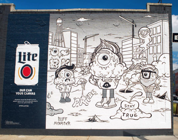 Miller Lite And Street Artist Buff Monster Team Up To Capture The Heart Of Brooklyn In A Mural