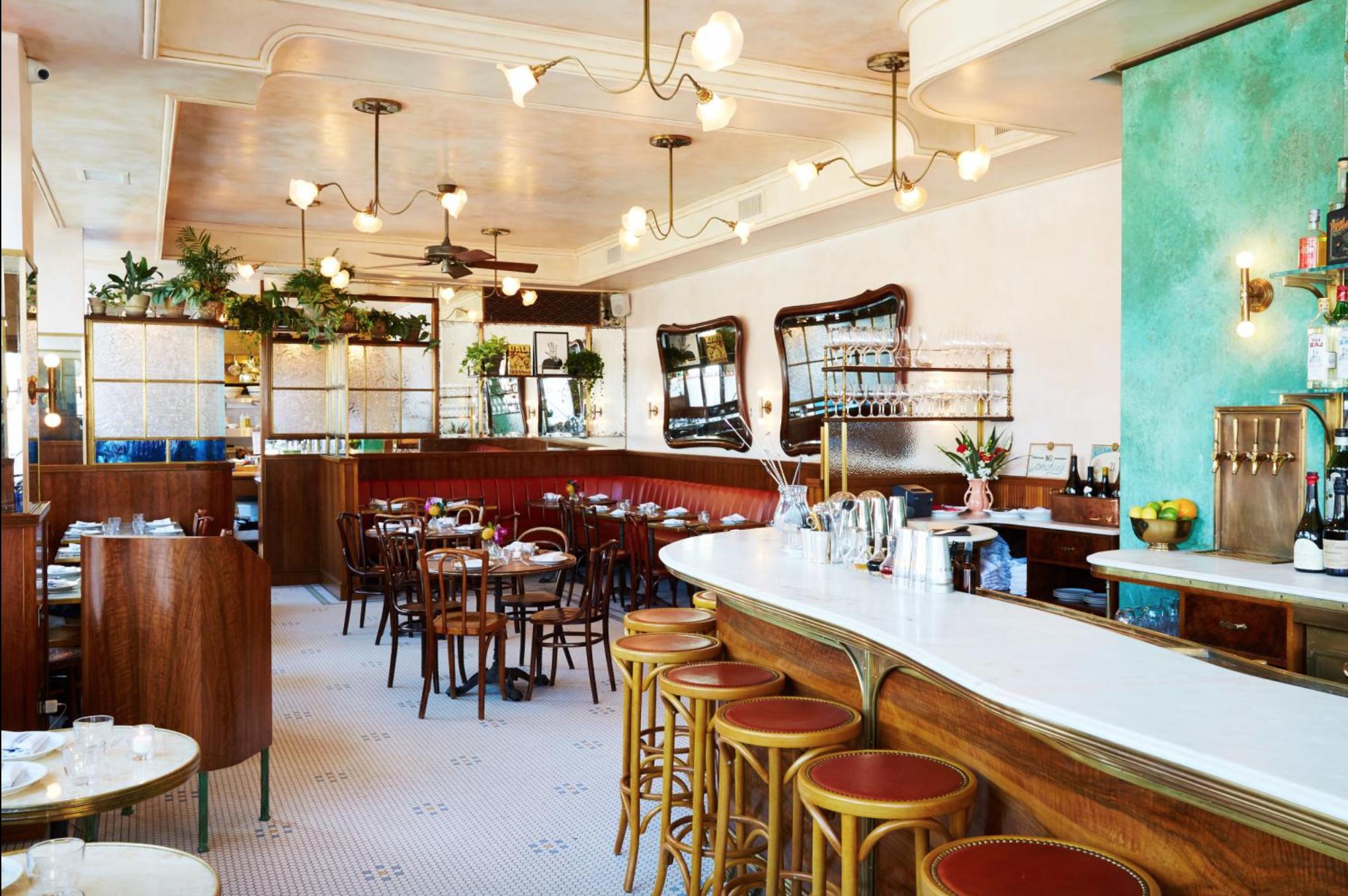 Inside Sauvage Restaurant In Williamsburg Photo Via