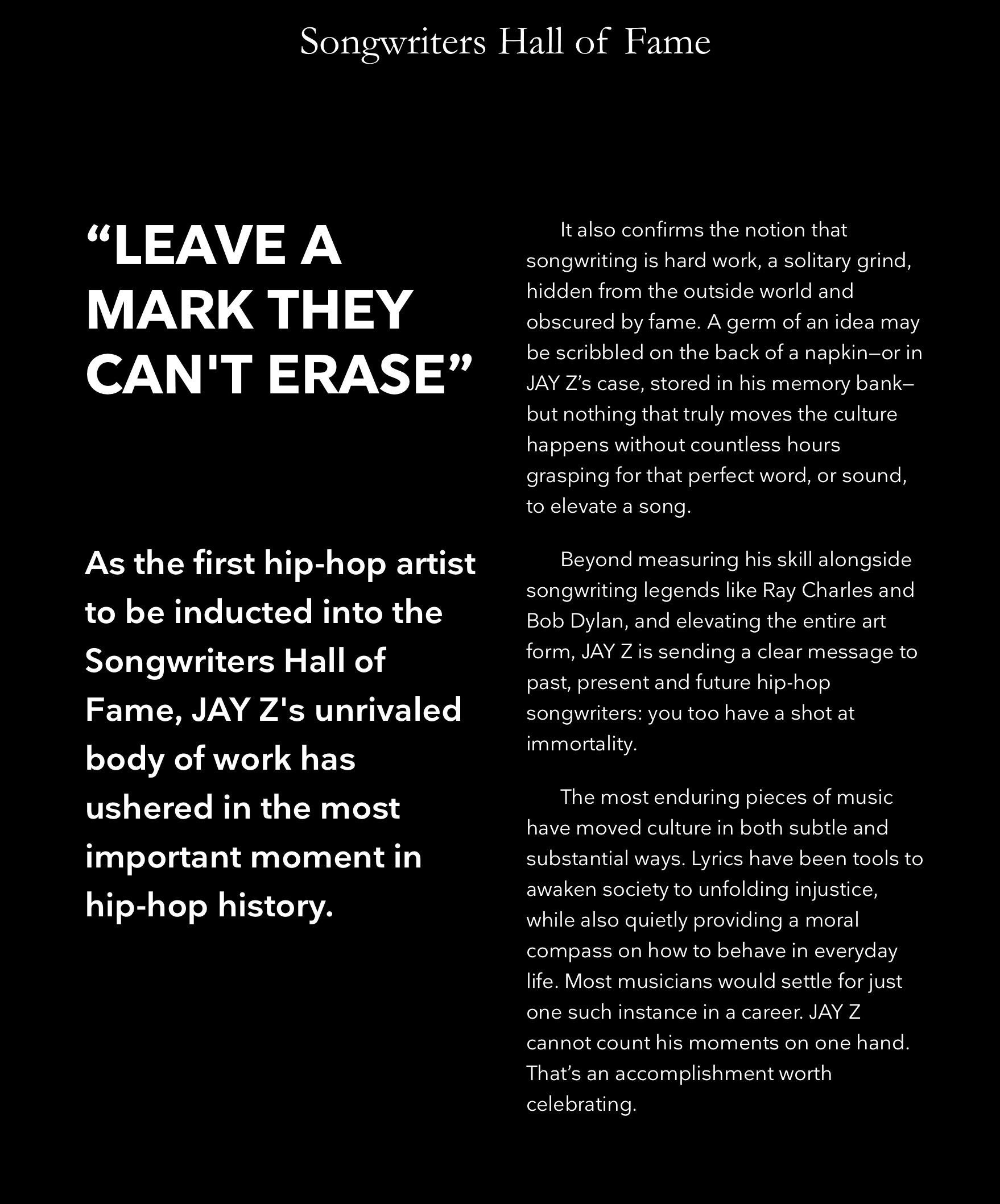 Jay Z Inducted Into The Songwriters Hall of Fame Then Took To Twitter To Celebrate