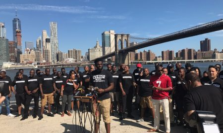 Nearly 100 NYPD Officers Stand in Support of Colin Kaepernick During Brooklyn Rally
